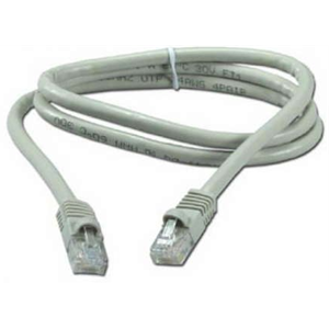 Купить Patch Cord  Gray, PP12-1M, Cat.5E, Cablexpert, molded strain relief 50u