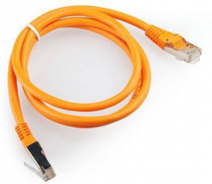 Купить Patch Cord  Orange, PP12-1M/O, Cat.5E, Cablexpert, molded strain relief 50u