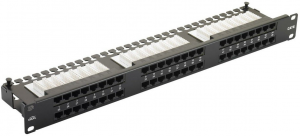 Купить 48 ports UTP Cat.5e patch panel, LY-PP5-06