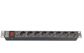 Купить 19 1U power socket,  PDU-GM001, 8 ports, 16A, 1.8M, PVC sheel, APC Electronic