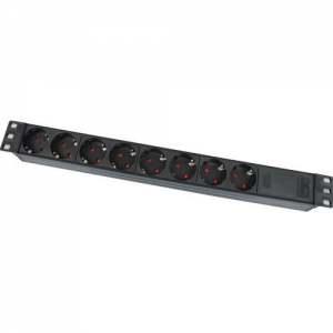 Купить 19 1U power socket,  PDU15, 8 ports, 16A, 1.8M, APC Electronic