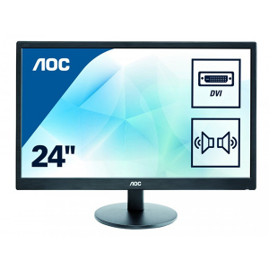 "Купить 23.6"" AOC LED e2470swda Black (5ms, 20M:1, 250cd, 1920x1080, DVI, Speakers, VESA)"