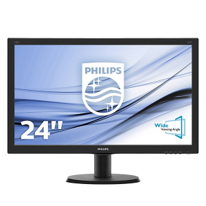 "Купить 23.8"" PHILIPS IPS LED 240V5QDSB Glossy Black (5ms, 20M:1, 250cd, 1920x1080, HDMI, DVI, Headphon-Out)"