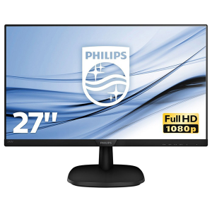 "Купить 27.0""  PHILIPS IPS LED 273V7QJAB Glossy Black (5ms, 10M:1, 250cd, 1920x1080, HDMI, DVI, DP, Speakers, VESA)"