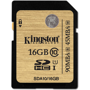 Купить Kingston 16GB SDHC (SDA10/16GB)