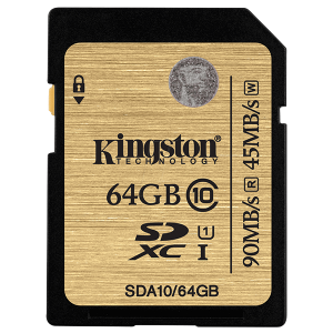 Купить Kingston 64GB SDXC (SDA10/64GB)