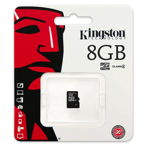 Купить Kingston 8GB microSDHC (SDC4/8GBSP)