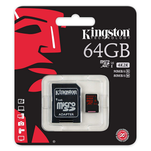 Купить Kingston 64GB microSDXC (SDCA3/64GB)
