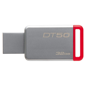 Купить 32GB USB3.1 Kingston DataTraveler 50 Silver/Red