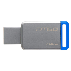 Купить 64GB USB3.1 Kingston DataTraveler 50 Silver/Blue