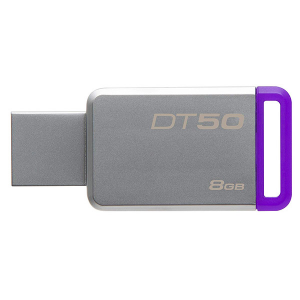 Купить 8GB USB3.1 Kingston DataTraveler 50 Silver/Purple