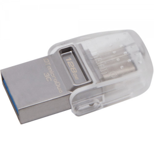 Купить 128GB USB3.1 Kingston DataTraveler MicroDuo 3C, Ultra-small, USB OTG Type C (On-The-Go)