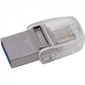 Купить 32GB USB3.1 Kingston DataTraveler MicroDuo 3C, Ultra-small, USB OTG Type C (On-The-Go)