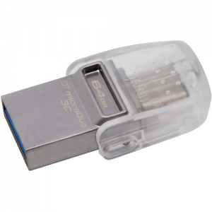 Купить 64GB USB3.1 Kingston DataTraveler MicroDuo 3C, Ultra-small, USB OTG Type C (On-The-Go)