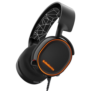 Купить STEELSERIES Arctis 5, 1.8 m+1.2 m, 3.5mm jack, USB, Black (SS-61443)