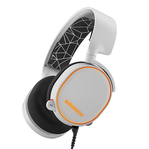 Купить STEELSERIES Arctis 5, 1.8 m+1.2 m, 3.5mm jack, USB, White (SS-61444)